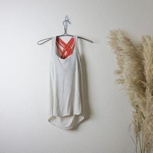 lululemon strappy draped tank top